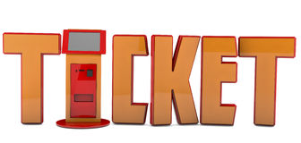 3d ticket machine Royalty Free Stock Photography