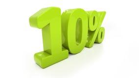 3D tien geïsoleerde percenten Royalty-vrije Stock Fotografie