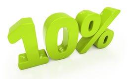 3D tien geïsoleerde percenten Stock Foto's