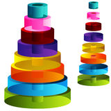 3d Tiered Cylinders. An image of 3d tiered cylinders Stock Images