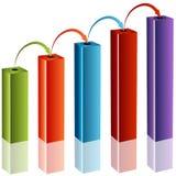 3D Tiered Reinvestment Chart. An image of a 3d tiered reinvestment chart Royalty Free Stock Images