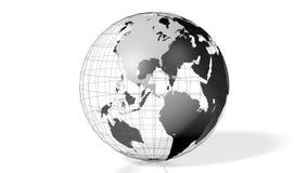 3D tierra, globo, mapa del mundo