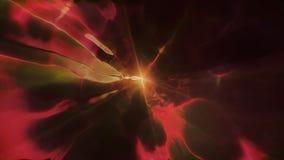 3D in tijd en ruimte teruggevend de vlucht aan een andere afmeting door een wormhole Heldere, high-energy en high-tech tunnel Royalty-vrije Stock Afbeelding