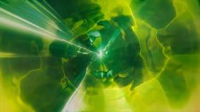 3D in tijd en ruimte teruggevend de vlucht aan een andere afmeting door een wormhole Heldere, high-energy en high-tech tunnel Royalty-vrije Stock Fotografie