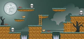 2D Tileset Platform Game 16 Stock Image