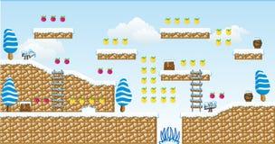 2D Tileset Platform Game 13 Royalty Free Stock Image