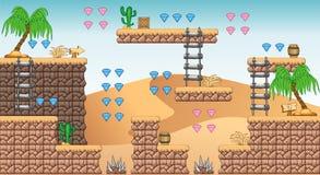 2D Tileset Platform Game 11 Royalty Free Stock Photos