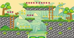 2D Tileset Platform Game 15. Tile set Platform for Game - A set of vector game asset, contains ground tiles Royalty Free Stock Images