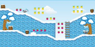 2D Tileset Platform Game 14. Tile set Platform for Game - A set of vector game asset, contains ground tiles Stock Photography