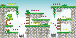 2D Tileset Platform Game 22 Royalty Free Stock Photography