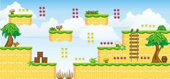2D Tileset Platform Game 31 Royalty Free Stock Image