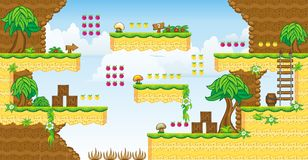 2D Tileset Platform Game 32 Royalty Free Stock Image