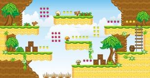 2D Tileset Platform Game 32 Royalty Free Stock Image