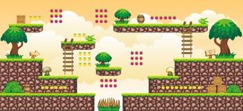 2D Tileset Platform Game 44 Stock Image