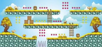 2D Tileset Platform Game 46 Stock Photos
