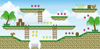 2D Tileset Platform Game 37 Royalty Free Stock Images