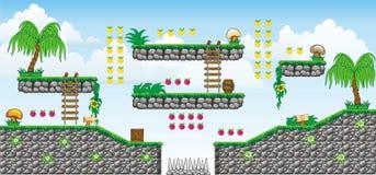 2D Tileset Platform Game 38 Royalty Free Stock Image
