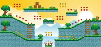 2D Tileset Platform Game 51 Royalty Free Stock Photography