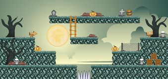2D Tileset Platform Game 53 stock illustration