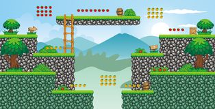 2D Tileset Platform Game 57 Royalty Free Stock Photography