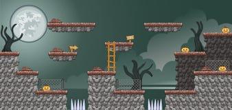 2D Tileset-Platformspel 17 royalty-vrije stock afbeelding