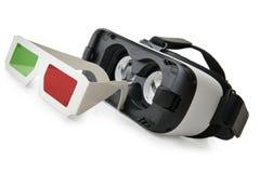 3d till VR-exponeringsglas Arkivbild