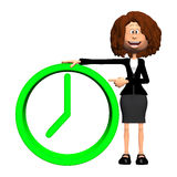 3d time concept. Isolated on the white background Royalty Free Stock Photo