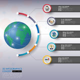 3d timeline infographics with icons set. vector. illustration. 3d timeline infographics with icons set. vector. illustration stock illustration