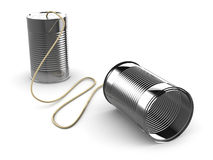 3d Tin can communication device Royalty Free Stock Photo