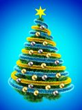 3d tinsel blue Royalty Free Stock Images