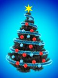 3d tinsel blue Stock Photography