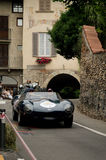 D-tipo de Jaguar en Bérgamo Grand Prix histórico 2015 Imágenes de archivo libres de regalías