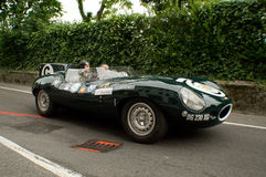 D-tipo de Jaguar en Bérgamo Grand Prix histórico 2015 Imagen de archivo