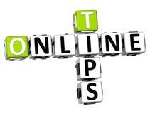 3D Tips Online Crossword Stock Photography