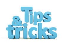 3d tips and tricks Royalty Free Stock Photo