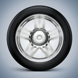 3d tire and alloy wheel. On white background Royalty Free Stock Photography