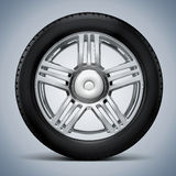 3d tire and alloy wheel. On white background Royalty Free Stock Images