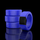 3d tire. Royalty Free Stock Image