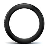 3d tire. On black  background Royalty Free Stock Images