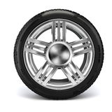 3d tire. On white background Royalty Free Stock Images