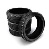 3d tire. On white background Stock Photos
