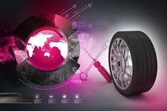 3d tires replacement concept Stock Photos