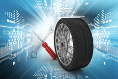 3d tires replacement concept Stock Photography
