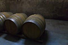 3d tło baryłki modelują biały wino Zdjęcia Stock