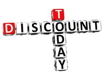 3D Today Discount Crossword. On white background Stock Images