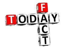 3D Today Fact Crossword Royalty Free Stock Photo