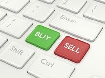 3d toetsenbord van de renderofcomputer met koopt en verkoopt knopen Royalty-vrije Stock Fotografie