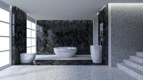 3d toilet interior design Royalty Free Stock Image