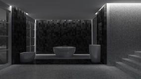 3d toilet interior design Stock Images