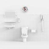 3d toilet. Stock Image